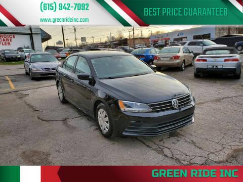 2016 Volkswagen Jetta for sale at Green Ride Inc in Nashville TN