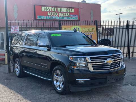 2016 Chevrolet Suburban for sale at Best of Michigan Auto Sales in Detroit MI