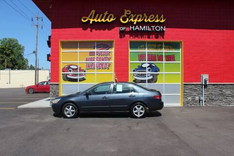 2003 Honda Accord for sale at AUTO EXPRESS OF HAMILTON LLC in Hamilton OH
