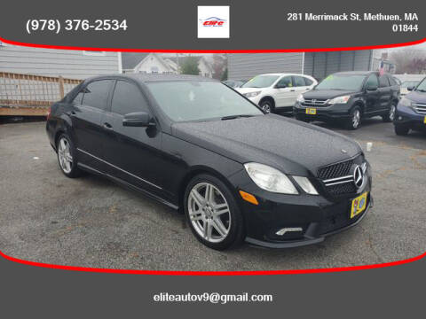 2011 Mercedes-Benz E-Class for sale at ELITE AUTO SALES, INC in Methuen MA
