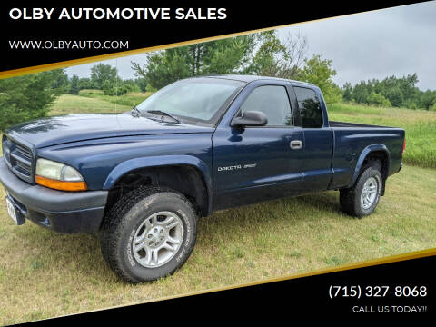 2002 Dodge Dakota for sale at OLBY AUTOMOTIVE SALES in Frederic WI