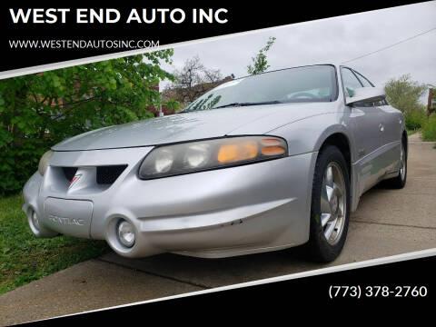 2000 Pontiac Bonneville for sale at WEST END AUTO INC in Chicago IL
