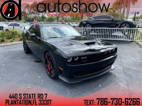 2016 Dodge Challenger for sale at AUTOSHOW SALES & SERVICE in Plantation FL