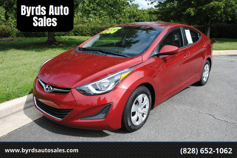 2016 Hyundai Elantra for sale at Byrds Auto Sales in Marion NC