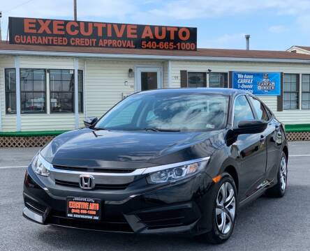2017 Honda Civic for sale at Executive Auto in Winchester VA