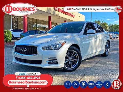 2017 Infiniti Q50 for sale at Bourne's Auto Center in Daytona Beach FL