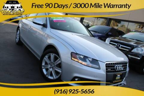 2011 Audi A4 for sale at West Coast Auto Sales Center in Sacramento CA