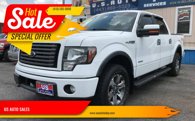 2012 Ford F-150 for sale at US AUTO SALES in Baltimore MD