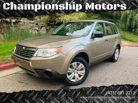 2009 Subaru Forester for sale at Mudarri Motorsports - Championship Motors in Redmond WA