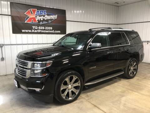 2016 Chevrolet Tahoe for sale at Karl Pre-Owned in Glidden IA
