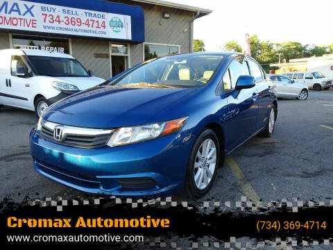2012 Honda Civic for sale at Cromax Automotive in Ann Arbor MI