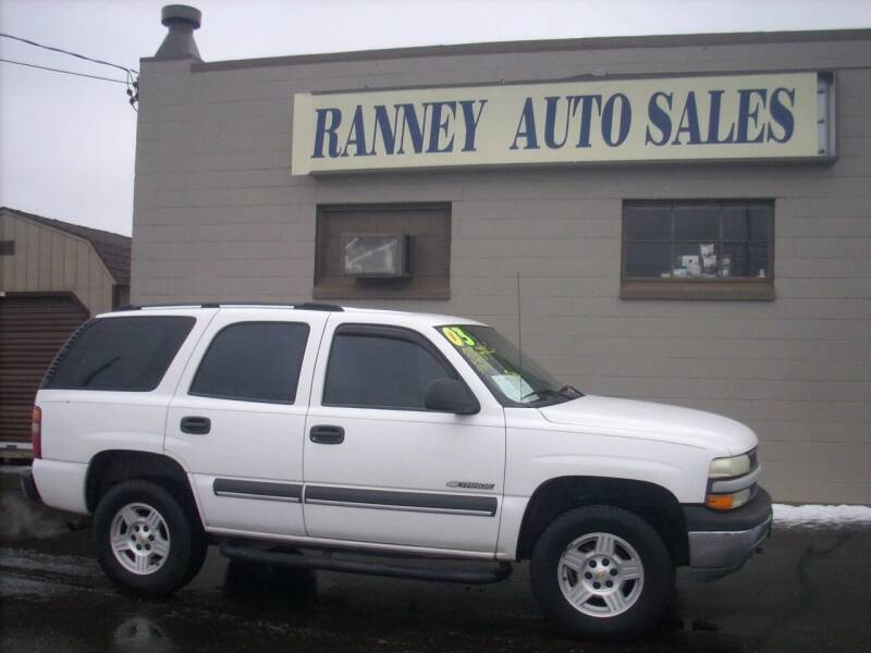 2003 Chevrolet Tahoe for sale at Ranney's Auto Sales in Eau Claire WI