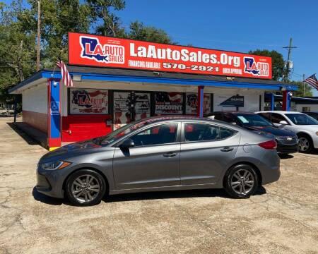 2018 Hyundai Elantra for sale at LA Auto Sales in Monroe LA