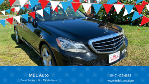 2014 Mercedes-Benz E-Class for sale at MBL Auto in Fredericksburg VA