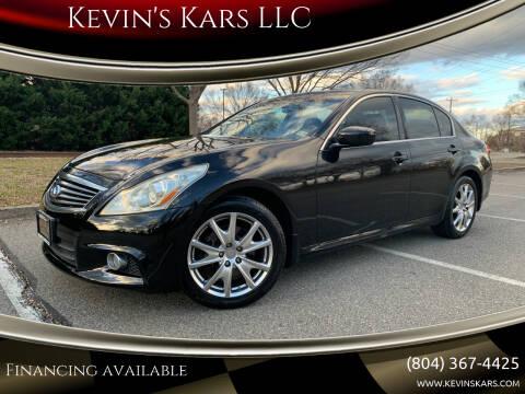 2010 Infiniti G37 Sedan for sale at Kevin's Kars LLC in Richmond VA