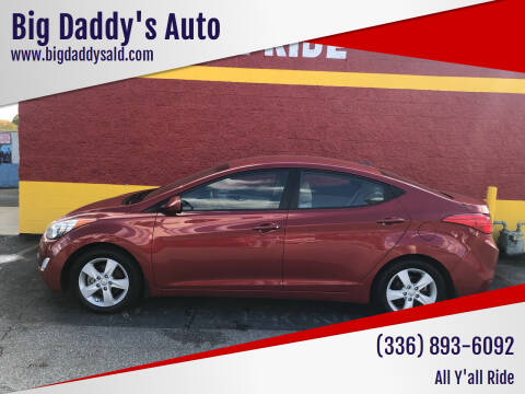 2013 Hyundai Elantra for sale at Big Daddy's Auto in Winston-Salem NC