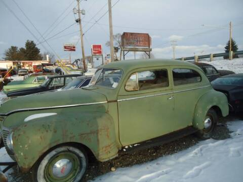 1941 Plymouth Deluxe for sale at Marshall Motors Classics in Jackson MI