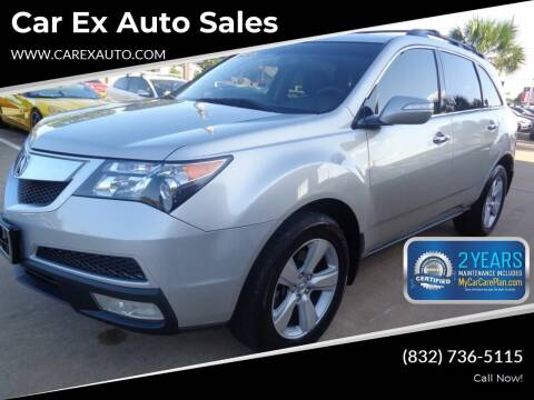 2010 Acura MDX for sale at Car Ex Auto Sales in Houston TX