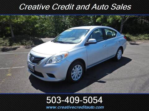 2012 Nissan Versa for sale at Creative Credit & Auto Sales in Salem OR