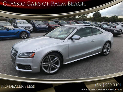 2011 Audi S5 for sale at Classic Cars of Palm Beach in Jupiter FL