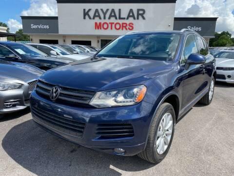 2011 Volkswagen Touareg for sale at KAYALAR MOTORS in Houston TX