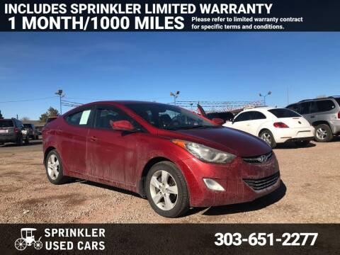 2012 Hyundai Elantra for sale at Sprinkler Used Cars in Longmont CO