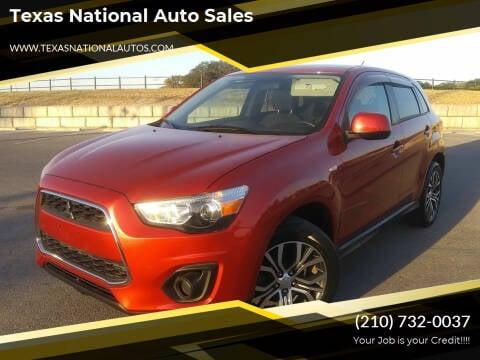 2015 Mitsubishi Outlander Sport for sale at Texas National Auto Sales in San Antonio TX