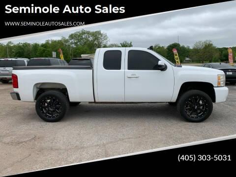 2010 Chevrolet Silverado 1500 for sale at Seminole Auto Sales in Seminole OK