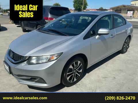 2014 Honda Civic for sale at Ideal Car Sales in Los Banos CA