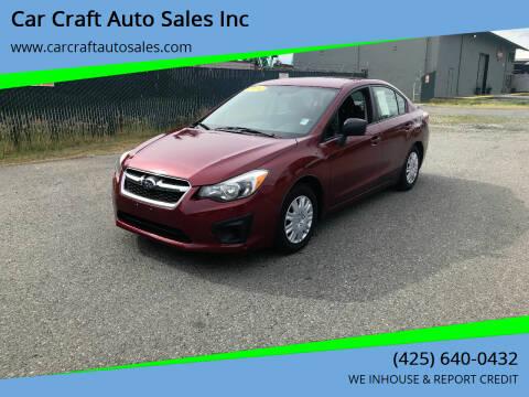 2014 Subaru Impreza for sale at Car Craft Auto Sales Inc in Lynnwood WA
