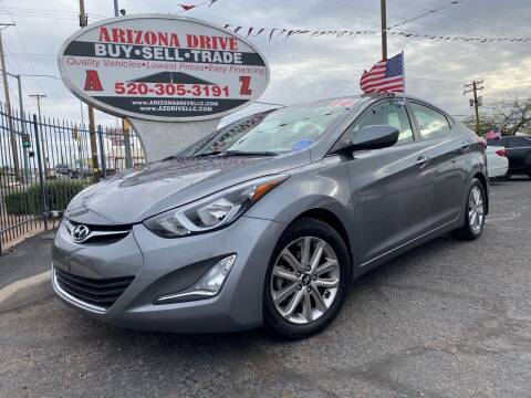 2016 Hyundai Elantra for sale at Arizona Drive LLC in Tucson AZ