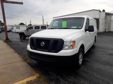 2017 Nissan NV Cargo for sale at Automotive Fleet Sales in Lemoyne PA