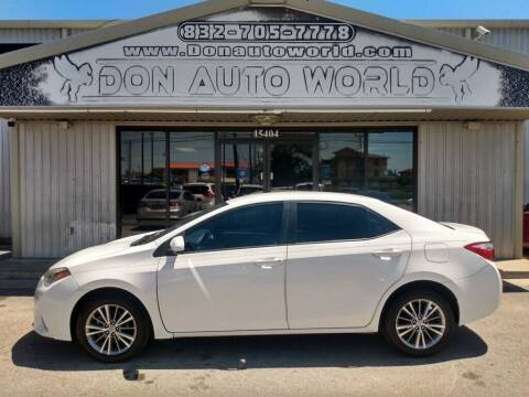 2015 Toyota Corolla for sale at Don Auto World in Houston TX