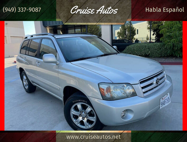 2004 Toyota Highlander for sale at Cruise Autos in Corona CA
