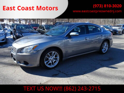 2009 Nissan Maxima for sale at East Coast Motors in Lake Hopatcong NJ