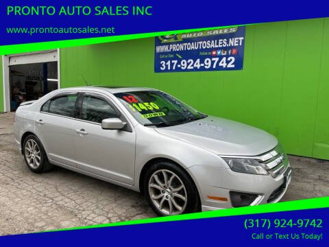 2012 Ford Fusion for sale at PRONTO AUTO SALES INC in Indianapolis IN