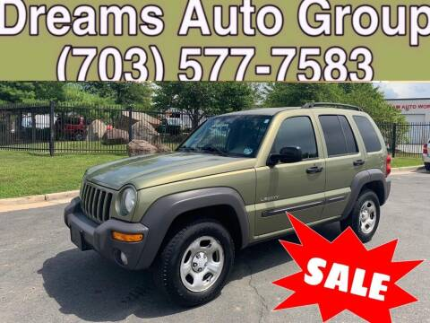 2004 Jeep Liberty for sale at Dreams Auto Group LLC in Sterling VA