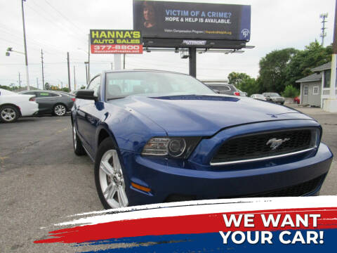 2014 Ford Mustang for sale at Hanna's Auto Sales in Indianapolis IN