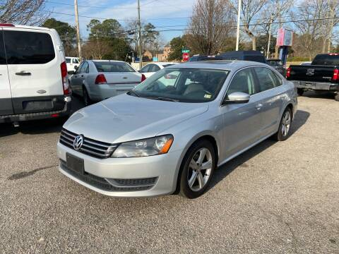 2013 Volkswagen Passat for sale at Premium Auto Brokers in Virginia Beach VA