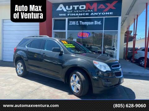 2012 Chevrolet Equinox for sale at Auto Max of Ventura in Ventura CA