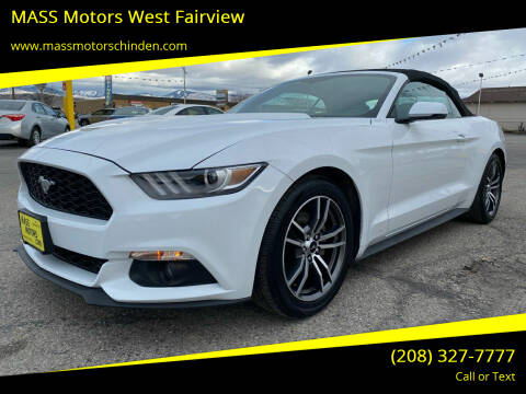 2017 Ford Mustang for sale at M.A.S.S. Motors - West Fairview in Boise ID
