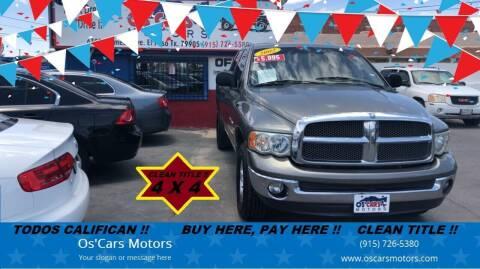 2002 Dodge Ram Pickup 1500 for sale at Os'Cars Motors in El Paso TX