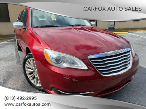 2012 Chrysler 200 for sale at Carfox Auto Sales in Tampa FL