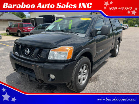 2008 Nissan Titan for sale at Baraboo Auto Sales INC in Baraboo WI