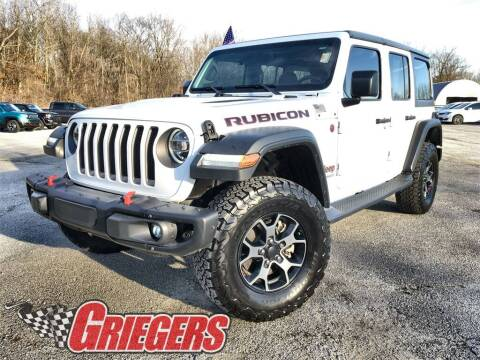 2018 Jeep Wrangler Unlimited for sale at GRIEGER'S MOTOR SALES CHRYSLER DODGE JEEP RAM in Valparaiso IN