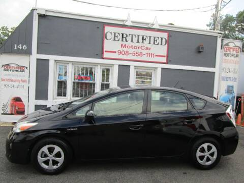2014 Toyota Prius for sale at CERTIFIED MOTORCAR LLC in Roselle Park NJ