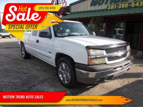 2004 Chevrolet Silverado 1500 for sale at MOTION TREND AUTO SALES in Tomball TX