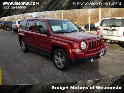 2017 Jeep Patriot for sale at Budget Motors of Wisconsin in Racine WI