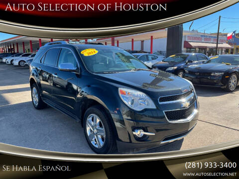 2014 Chevrolet Equinox for sale at Auto Selection of Houston in Houston TX