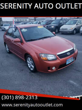 2008 Kia Spectra for sale at SERENITY AUTO OUTLET in Frederick MD